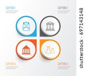 education icons set. collection ... | Shutterstock .eps vector #697143148