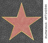 walk of fame hollywood... | Shutterstock .eps vector #697143544