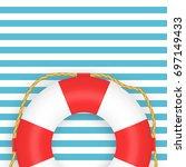 lifebuoy photo realistic vector ... | Shutterstock .eps vector #697149433