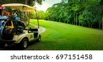 Golf Cart Or Car On Golf Cours...