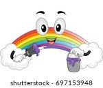 illustration of a rainbow... | Shutterstock .eps vector #697153948