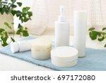 skin care basic cosmetics | Shutterstock . vector #697172080