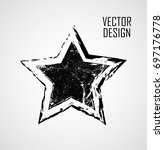 stamps collection. grunge stars ... | Shutterstock .eps vector #697176778
