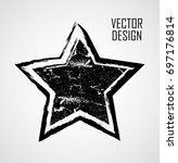 stamps collection. grunge stars ... | Shutterstock .eps vector #697176814