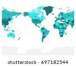 world map in four shades of... | Shutterstock .eps vector #697182544