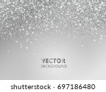 falling glitter confetti.... | Shutterstock .eps vector #697186480