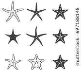 set of starfish icon ... | Shutterstock .eps vector #697188148