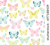 vector seamless pattern with...   Shutterstock .eps vector #697188439