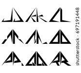 j r half triangle shapes symbol ... | Shutterstock .eps vector #697191448