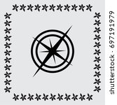 wind rose vector icon | Shutterstock .eps vector #697191979