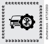 auto repair vector icon | Shutterstock .eps vector #697192003