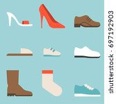 type of shoes collection icon ... | Shutterstock .eps vector #697192903