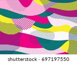 creative geometric colorful... | Shutterstock .eps vector #697197550