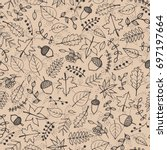 Vector Hand Drawn Pattern With...