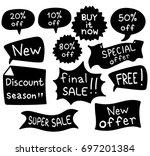 promo banner geometric vector... | Shutterstock .eps vector #697201384