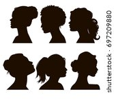 women's elegant silhouettes... | Shutterstock . vector #697209880