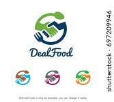 deal food logo template design...   Shutterstock .eps vector #697209946