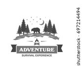 outdoor and camping logo design ... | Shutterstock .eps vector #697214494