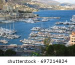 Small photo of Viewpoint at the mooring boat See the building See the mountain See the sky Monte Carlo Quarter and Ward of Monaco
