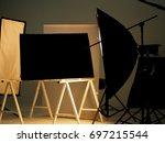 behind the scenes of shooting...   Shutterstock . vector #697215544