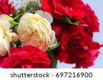 flowers bouquet | Shutterstock . vector #697216900