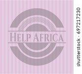 help africa pink emblem | Shutterstock .eps vector #697217230