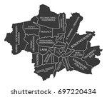 munich city map germany de... | Shutterstock .eps vector #697220434
