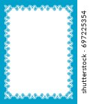 blue border frame book cover... | Shutterstock .eps vector #697225354