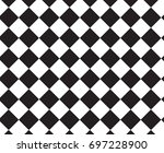checkered background with... | Shutterstock .eps vector #697228900