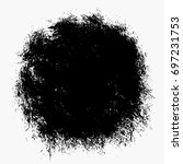 black round vector brush stroke | Shutterstock .eps vector #697231753
