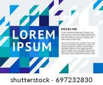 booklet cover template with a... | Shutterstock .eps vector #697232830