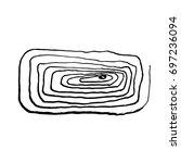 vector brush stroke. grunge ink ... | Shutterstock .eps vector #697236094