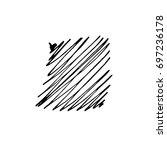 vector brush stroke. grunge ink ... | Shutterstock .eps vector #697236178
