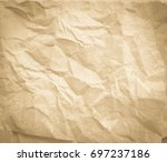 old crumpled paper background.... | Shutterstock . vector #697237186