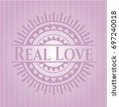 real love pink emblem. vintage. | Shutterstock .eps vector #697240018