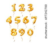 vector golden number 1  2  3  4 ... | Shutterstock .eps vector #697242700