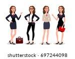 raster copy business womens...   Shutterstock . vector #697244098