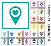 favorite gps map location flat... | Shutterstock .eps vector #697250068