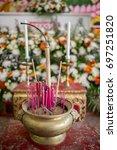 incense sticks in ceremony | Shutterstock . vector #697251820