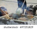 panthong furnace to transform... | Shutterstock . vector #697251829