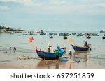 vung tau city  vietnam   july...   Shutterstock . vector #697251859