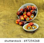 close up of fresh oil palm... | Shutterstock . vector #697254268