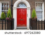 london architecture style  uk   ... | Shutterstock . vector #697262080