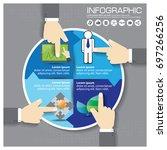 business timeline infographics... | Shutterstock .eps vector #697266256