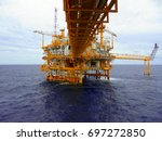 oil and gas industrial platform ... | Shutterstock . vector #697272850