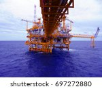 oil and gas industrial platform ... | Shutterstock . vector #697272880