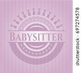 babysitter retro style pink... | Shutterstock .eps vector #697274578