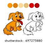 Dog. Coloring Book Design For...