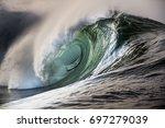 big beautful perfect surfing...   Shutterstock . vector #697279039