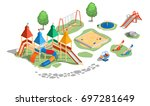 vector illustration playground  ... | Shutterstock .eps vector #697281649